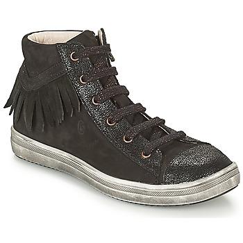 Schoenen Meisjes Hoge sneakers GBB FRANCESCA Zwart
