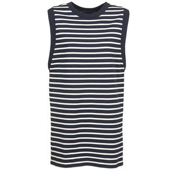 Textiel Dames Korte jurken Petit Bateau MARBRE Marine / Ecru