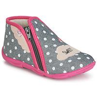 Schoenen Meisjes Sloffen GBB MILKY Grijs / Roze