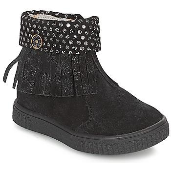 Schoenen Meisjes Laarzen Catimini PERETTE Zwart / Zilver