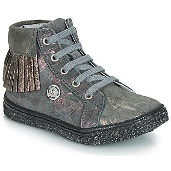 Schoenen Meisjes Hoge sneakers Catimini LOULOU Vte / Gris-marbre / Roze / Dpf / Dolby