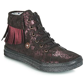 Schoenen Meisjes Hoge sneakers Catimini LOULOU Zwart / Roze