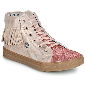 Schoenen Meisjes Hoge sneakers Catimini LOULOU Vts / Roze / Poudre-pail / Dpf / Dolby