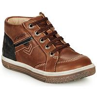 Schoenen Jongens Hoge sneakers Catimini PASCOU Nub / Brown / Dpf / Times