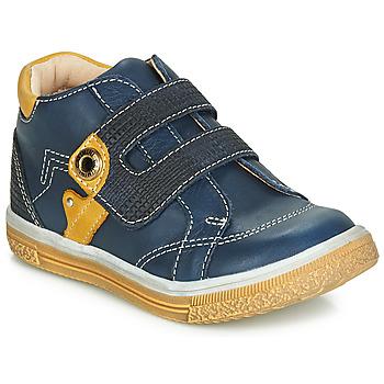 Schoenen Jongens Hoge sneakers Catimini BICHOU Marine / Mosterd