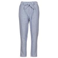Textiel Dames 5 zakken broeken Betty London IKARALE Blauw / Wit