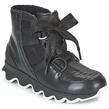 Schoenen Dames Snowboots Sorel KINETIC™ SHORT LACE Zwart