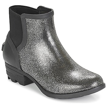 Schoenen Dames Laarzen Sorel JANEY CHELSEA Zwart / Zilver