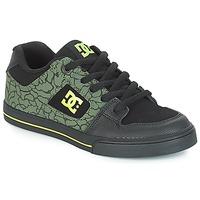 Schoenen Kinderen Lage sneakers DC Shoes PURE SE B SHOE BK9 Zwart / Groen