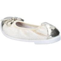 Schoenen Meisjes Ballerina's Lelli Kelly ballerine beige tessuto platino pelle AG673 Beige