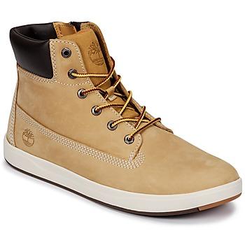 Schoenen Kinderen Laarzen Timberland Davis Square 6 Inch Boot Wheat / Naturebuck