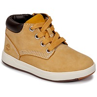 Schoenen Kinderen Hoge sneakers Timberland Davis Square Leather Chk Wheat / Naturebuck