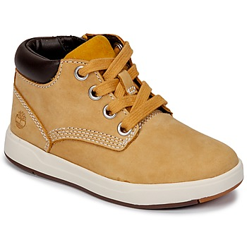 Schoenen Kinderen Laarzen Timberland Davis Square Leather Chk Wheat / Naturebuck