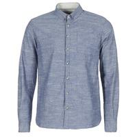 Textiel Heren Overhemden lange mouwen Casual Attitude IPODRUM Blauw