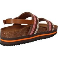 Schoenen Dames Sandalen / Open schoenen 5 Pro Ject sandali rosa tessuto marrone AC592 Rosa