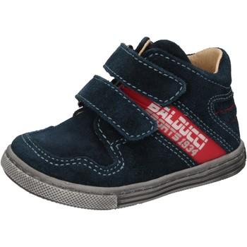 Schoenen Jongens Hoge sneakers Balducci sneakers blu camoscio AD585 Blu
