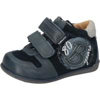 Schoenen Jongens Hoge sneakers Balducci sneakers blu camoscio pelle AD588 Blu