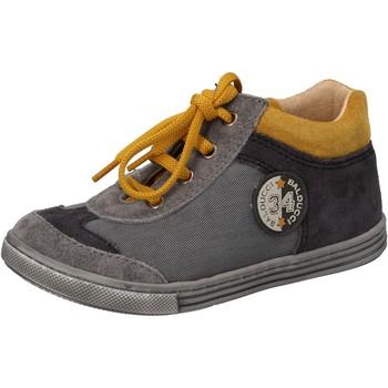 Schoenen Jongens Hoge sneakers Balducci sneakers grigio tessuto camoscio AD595 Grigio