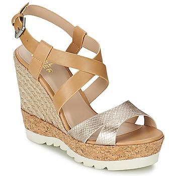 Schoenen Dames Sandalen / Open schoenen Bullboxer GLADOU Brown / Zilver