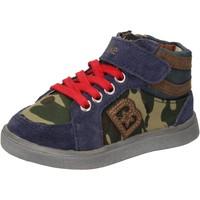 Schoenen Jongens Hoge sneakers Blaike sneakers blu camoscio verde pelle AD769 Multicolore