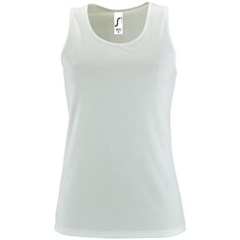 Textiel Dames Mouwloze tops Sols SPORT TT WOMEN Blanco