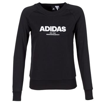 Textiel Dames Sweaters / Sweatshirts adidas Performance ESS ALLCAP SWT Zwart