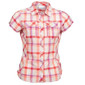 Textiel Dames Overhemden korte mouwen Columbia CAMP HENRY Multikleuren