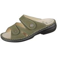 Schoenen Dames Leren slippers Finn Comfort Torbole Olive