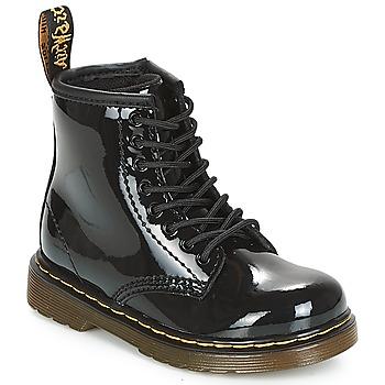 Schoenen Meisjes Laarzen Dr Martens 1460 PATENT CADET Zwart