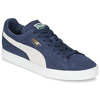 Schoenen Lage sneakers Puma SUEDE CLASSIC Blauw / Wit
