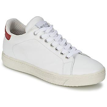 Schoenen Dames Lage sneakers Meline AIMEE Wit / Rood