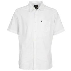 Textiel Heren Overhemden korte mouwen Quiksilver EVERYDAY SOLID SS Wit