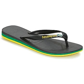 Schoenen Heren Slippers Havaianas Brasil Layers Zwart