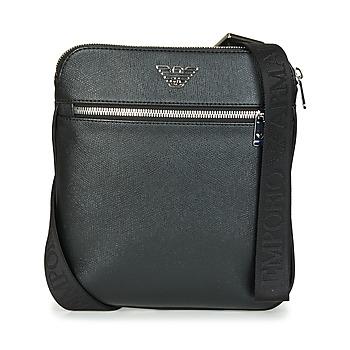 Tassen Heren Tasjes / Handtasjes Emporio Armani BUSINESS FLAT MESSENGER BAG Zwart