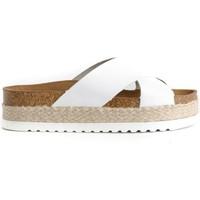 Schoenen Dames Leren slippers Colour Feet MACARELLA Wit