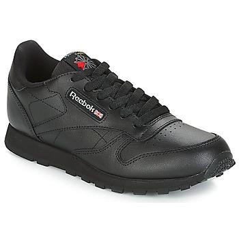 Schoenen Kinderen Lage sneakers Reebok Classic CLASSIC LEATHER J Zwart
