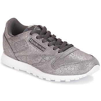 Schoenen Meisjes Lage sneakers Reebok Classic CLASSIC LEATHER J Grijs / Métallique