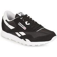 Schoenen Kinderen Lage sneakers Reebok Classic CLASSIC NYLON J Zwart / Wit
