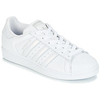 Schoenen Dames Lage sneakers adidas Originals SUPERSTAR W Wit / Zilver