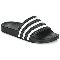 Schoenen Lage sneakers adidas Originals ADILETTE Zwart / Wit
