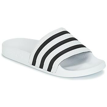Schoenen Lage sneakers adidas Originals ADILETTE Wit / Zwart