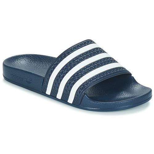 Schoenen Slippers adidas Originals ADILETTE Marine / Wit