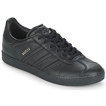 Schoenen Kinderen Lage sneakers adidas Originals GAZELLE J Zwart