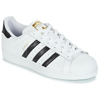 Schoenen Lage sneakers adidas Originals SUPERSTAR Wit / Zwart