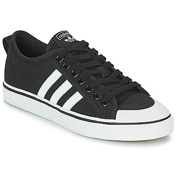 Schoenen Lage sneakers adidas Originals NIZZA Zwart / Wit
