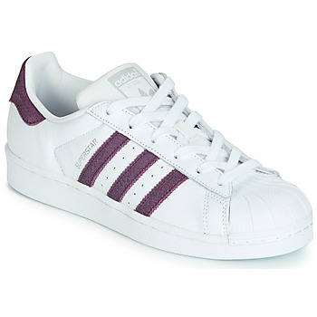 Schoenen Dames Lage sneakers adidas Originals SUPERSTAR W Wit / Violet