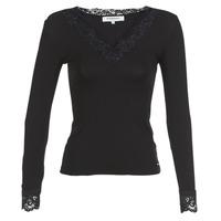 Textiel Dames T-shirts met lange mouwen Morgan TRACY Zwart