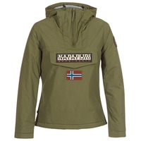 Textiel Dames Parka jassen Napapijri RAINFOREST WINTER Kaki