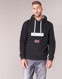 Textiel Heren Sweaters / Sweatshirts Napapijri BURGEE Zwart