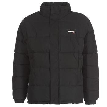 Textiel Dons gevoerde jassen Schott NEBRASKA Zwart